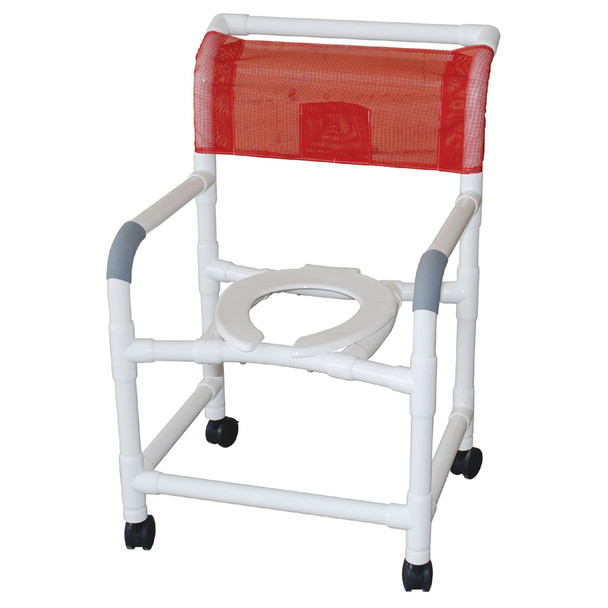 Standard Wide Roll-In Shower Chair White
