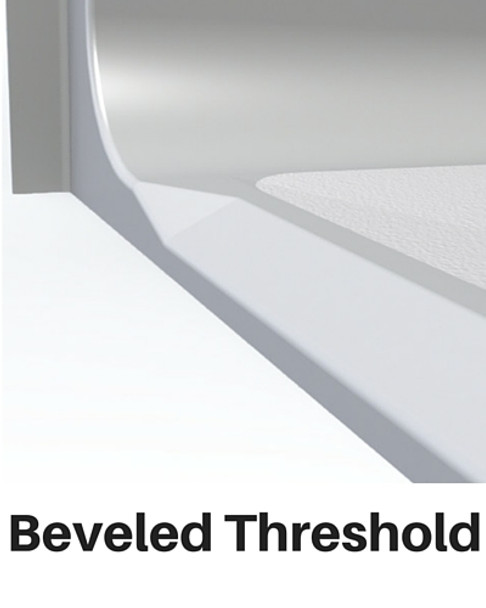 Roll In Shower Pan Beveled Threshold