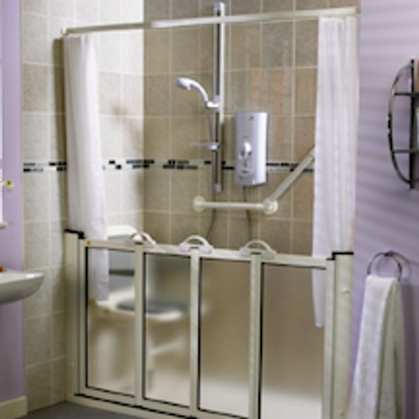 Includes Shower Rod And Curtain