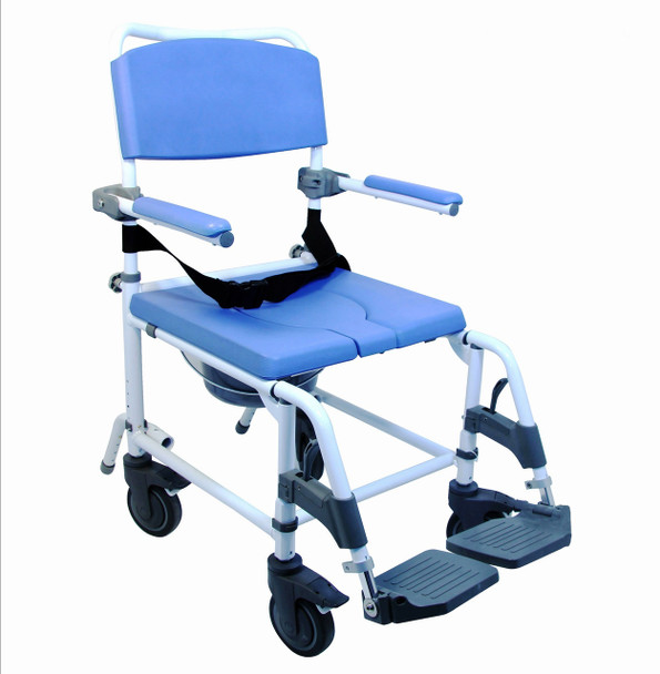 Shower Commode Chair With Wider Seat