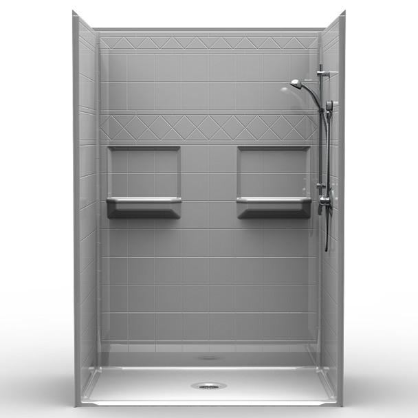 Multi Piece Barrier Free Shower