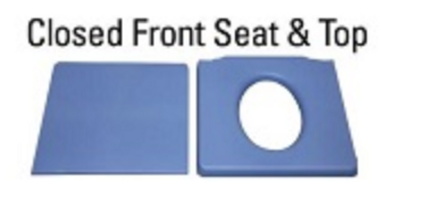 Closed Front Seat With Solid Cover For Best Shower Chairs