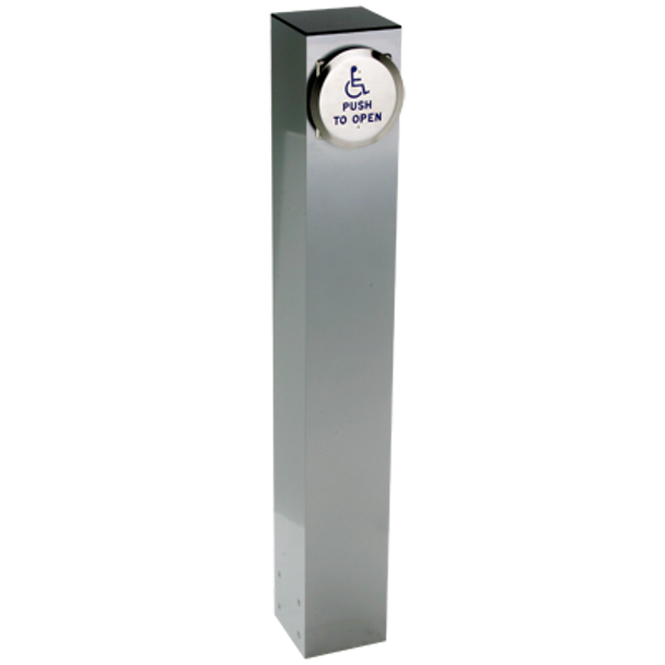 Stainless Steel Bollard With Push Plate