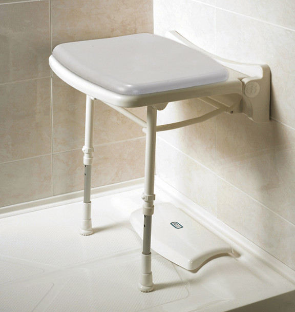 Padded Fold Up Shower Seat Gray Pad AKW-02000P