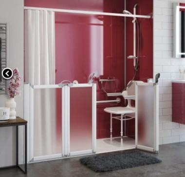 Order Caregiver Shower Doors Half Height Shower Doors
