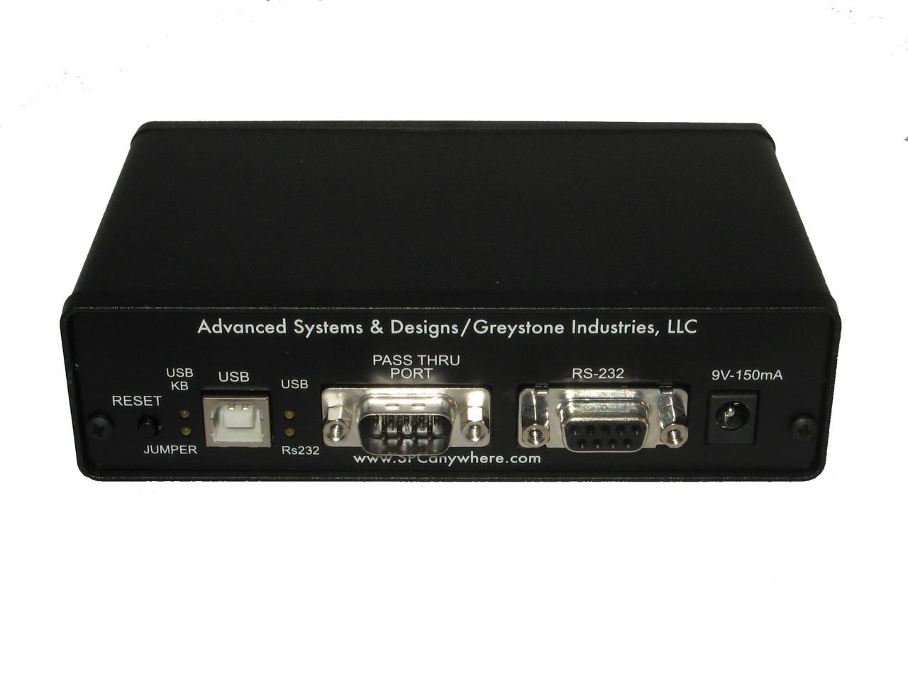 ASDQMS GageMux USB Multiplexer Back