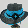 Lace Shooter Hat- Turquoise