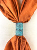 Turquoise/Brown Tube Scarf Slide