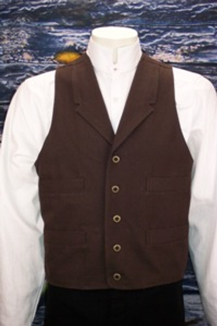 Frontier Canvas Vest - Brown