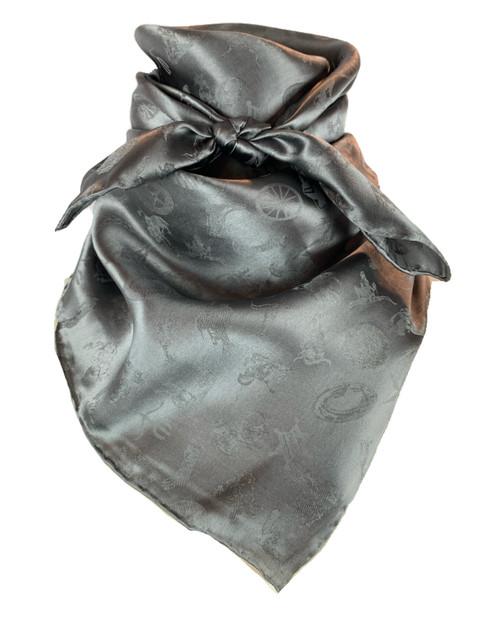 Charcoal Cowboy Logo Jacquard