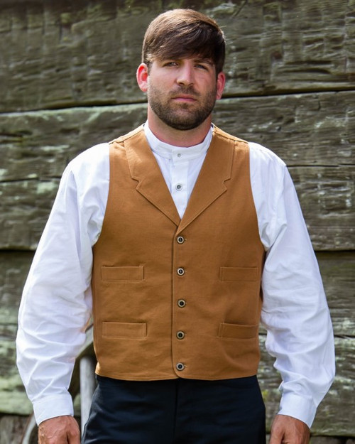 Frontier Canvas Vest - Tan