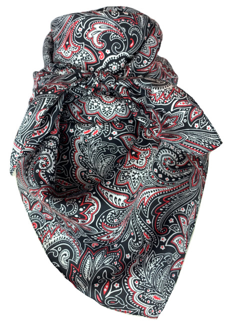Black White Red Paisley