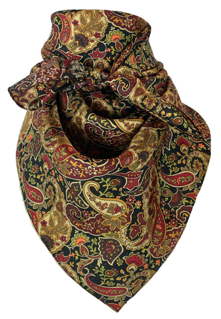Black Red Gold Paisley