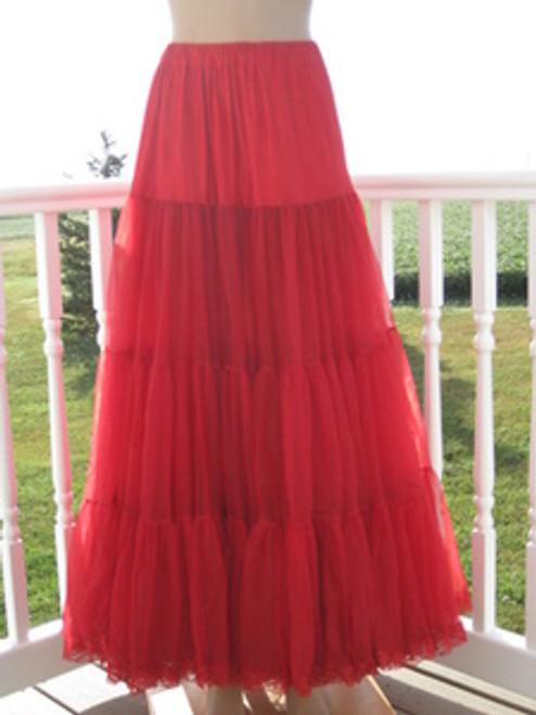 Chiffon Petticoat Red