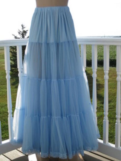 Chiffon Petticoat Light Blue