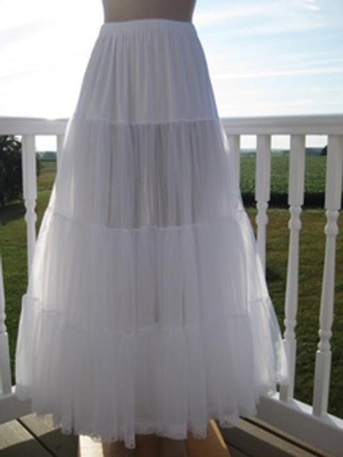 Chiffon Petticoat White
