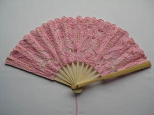 Lace Fan Pink