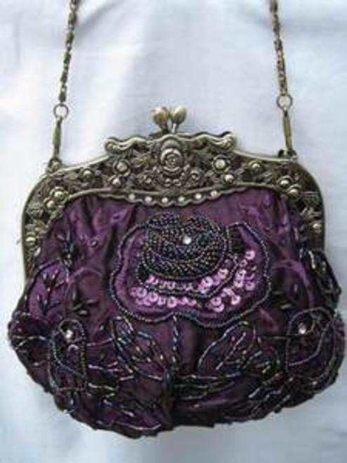 Vintage Evening Bag HBO3311-PUR