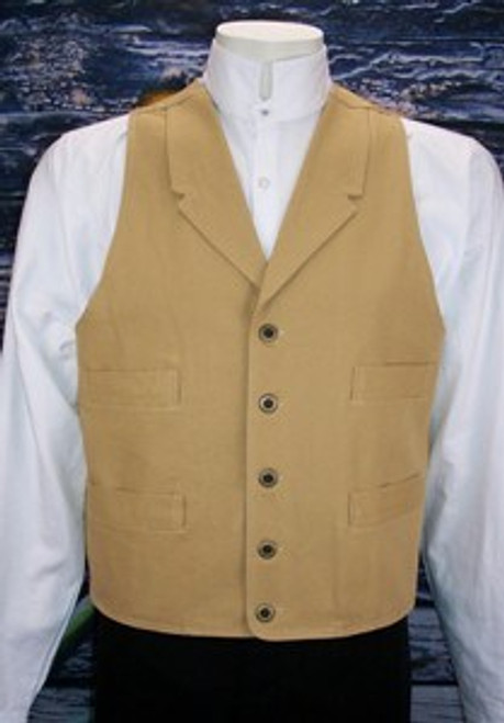 Frontier Canvas Vest - Wheat