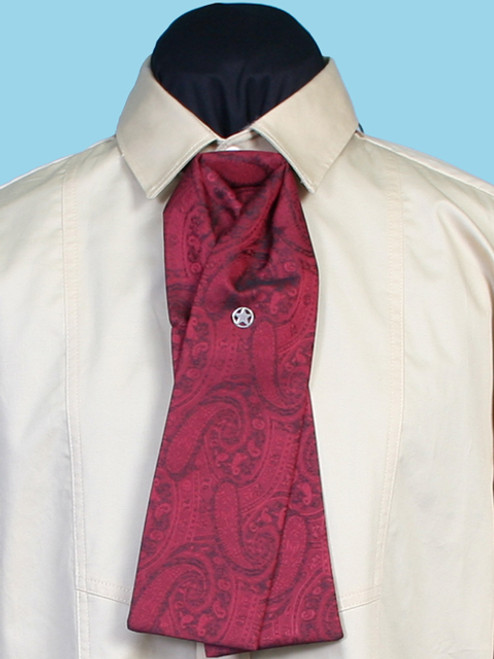 Paisley Puff Tie - Red