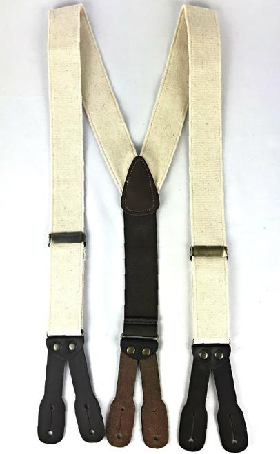 Canvas Suspenders - Ivory