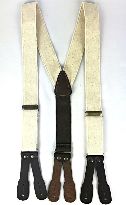 Canvas Suspenders - Ivory