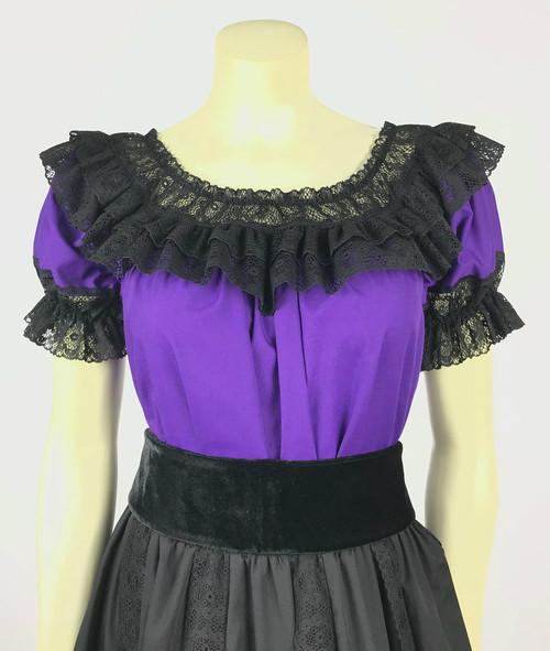 Fiesta Blouse - Purple/Black