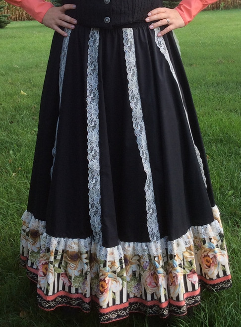 Lace Floral Skirt