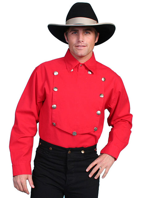 Scully Bib Front Shirt Red