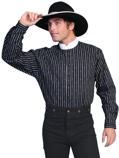 Scully Stripe Dress Shirt Black