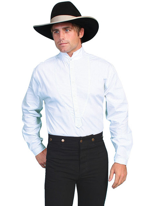 Scully PinStripe Shirt White