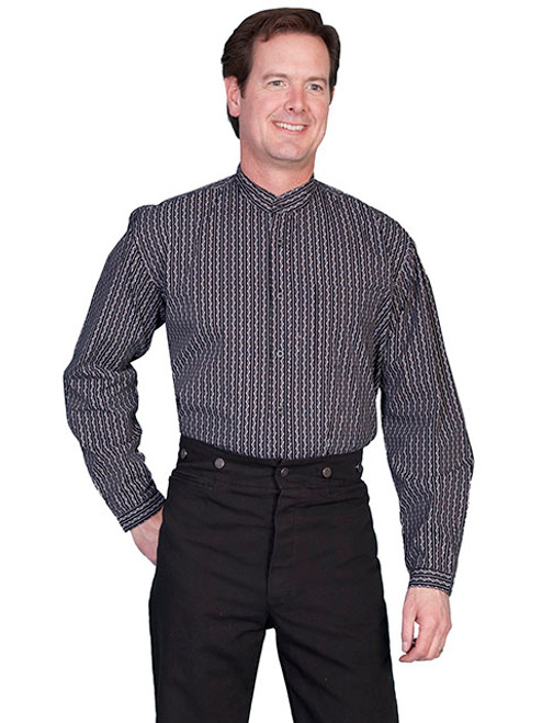 Scully Stripe Print Shirt Black