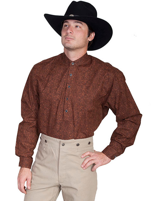 Wah Maker Scallop Bib Shirt Brown