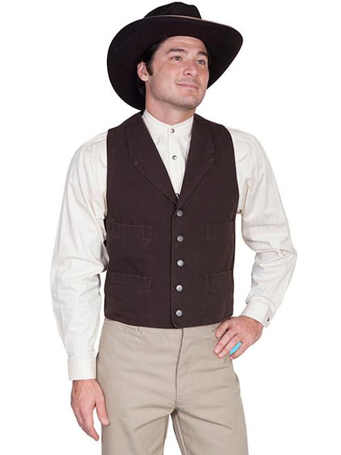 Wah Maker Canvas Vest Walnut