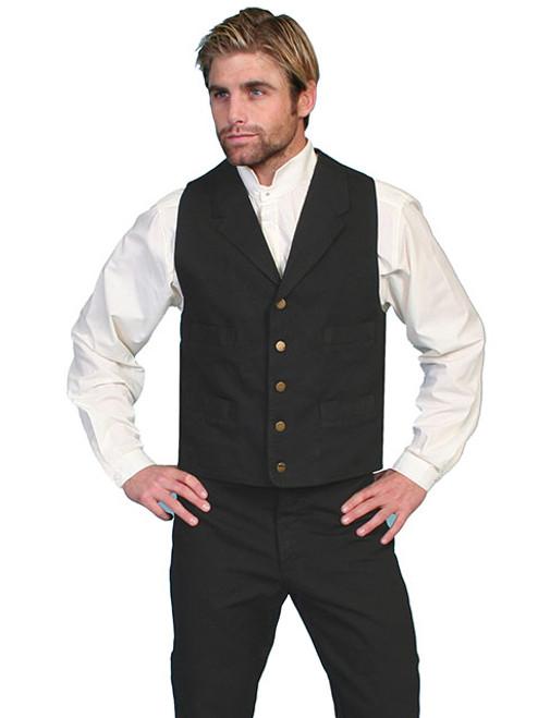 Scully Cotton Canvas Vest -BLK