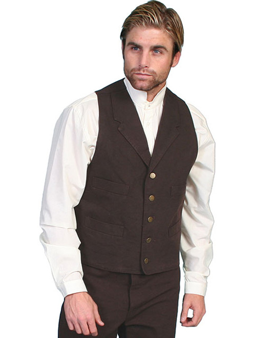 Scully Cotton Canvas Vest-Wal