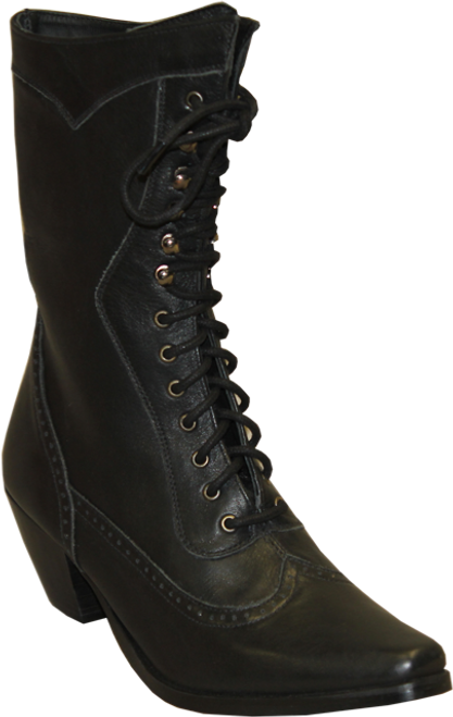 Victorian Lace Up - Black