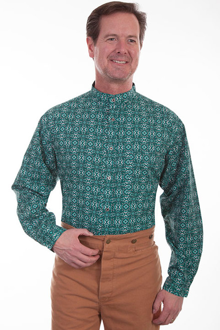 Scully  Print Shirt Emerald Green