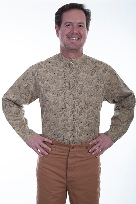 Scully Paisley Shirt Tan