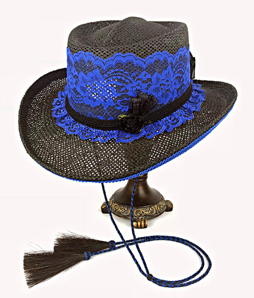Lace Shooter Hat- Royal