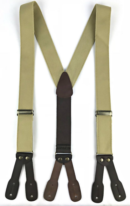 Canvas Suspenders - Khaki