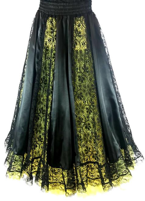 Lace Peekaboo Skirt - Black