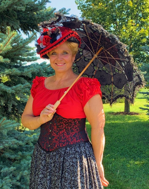 Lace Parasol with Ruffle