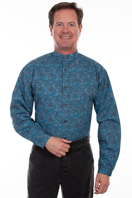 Scully Teal Paisley Shirt