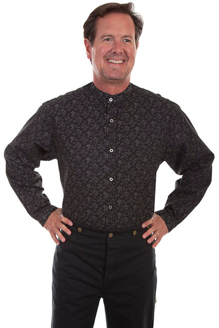 Scully Black Paisley Shirt