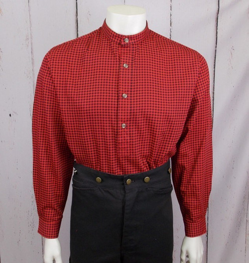 Hoss Shirt - Red/Black Check Print
