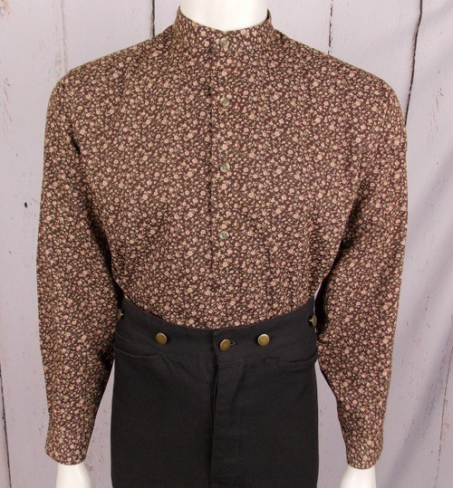 Hoss Shirt - Brown Floral