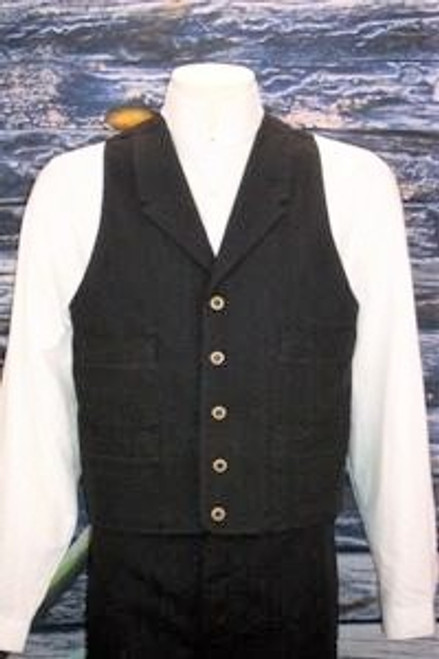 Frontier Canvas Vest - Black