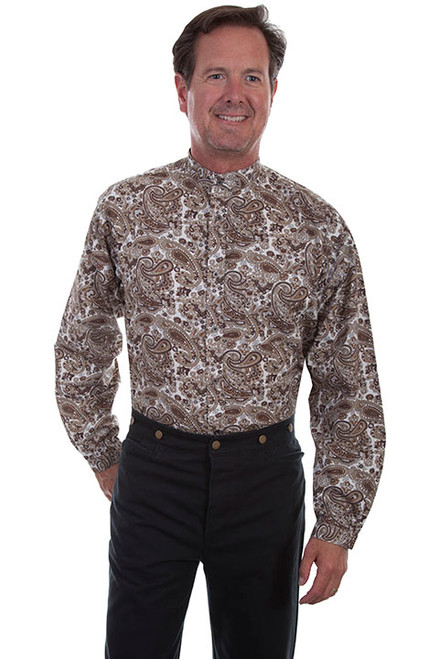 Scully Brown Paisley Shirt