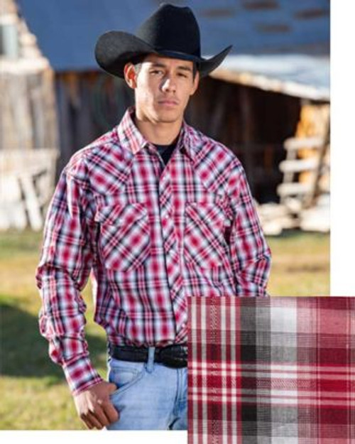 Wyoming Traders Red/Black Western Snap Shirt